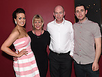 Cormac Coyle and Aoife Duff celebrating their engagement in Brú with Cormac's parents Cathal and Lucy Coyle. Photo:Colin Bell/pressphotos.ie
