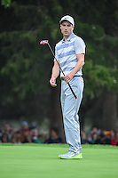 Ross Fisher (ENG) watches his birdie attempt on 18 during round 3 of the World Golf Championships, Mexico, Club De Golf Chapultepec, Mexico City, Mexico. 3/4/2017.<br /> Picture: Golffile | Ken Murray<br /> <br /> <br /> All photo usage must carry mandatory copyright credit (&copy; Golffile | Ken Murray)