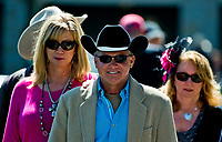 LEXINGTON, KENTUCKY - APRIL 08: Patrons arrive on Blue Grass Stakes Day at Keeneland Race Course on April 8, 2017 in Lexington, Kentucky. (Photo by Scott Serio/Eclipse Sportswire/Getty Images)