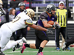 SIOUX FALLS, SD - OCTOBER 18: Nephi Garcia #3 from the University of Sioux Falls scampers past Tyler Flud #27 from Southwest Minnesota State in the first half of their game Saturday afternoon at Bob Young Field in Sioux Falls. (Photo by Dave Eggen/Inertia)