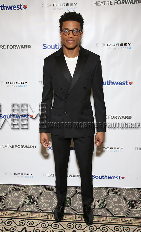 Jeremy Pope during a reception for Theatre Forward's Chairman's Awards Gala at the Pierre Hotel on April 8, 2019 in New York City.