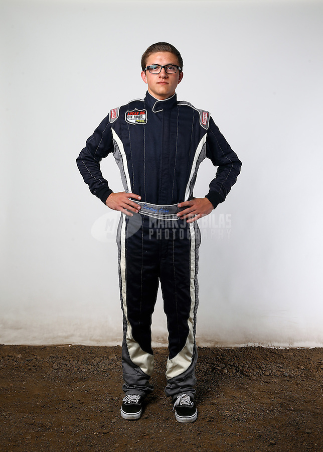 Mar. 21, 2014; Chandler, AZ, USA; LOORRS pro buggy driver Sterling Cling poses for a portrait prior to round one at Wild Horse Motorsports Park. Mandatory Credit: Mark J. Rebilas-USA TODAY Sports