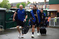 Allan Ryan, Anthony Perenise and the rest of the Bath Rugby team arrive at Welford Road. Gallagher Premiership match, between Leicester Tigers and Bath Rugby on May 18, 2019 at Welford Road in Leicester, England. Photo by: Patrick Khachfe / Onside Images