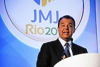 RIO DE JANEIRO - RJ DIA 07 DE FEVEREIRO DE 2012 - durante cerimonia de lançamento da  logomarca oficial da Jornada Mundial da Juventude que ira acontecer em 2013 na cidade do Rio de Janeiro na noite dessa terça-feira na regiao central da capital fluminense. FOTO: RONALDO BRANDAO - NEWS FREE.
