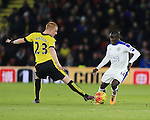 Watford's Ben Watson tussles with Leicester City's N'Golo Kante<br /> <br /> - English Premier League - Watford vs Leicester City  - Vicarage Road - London - England - 5th March 2016 - Pic David Klein/Sportimage