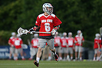09 May 2015: Ohio State's Trevor Hodgins. The Duke University Blue Devils hosted the Ohio State University Buckeyes at Koskinen Stadium in Durham, North Carolina in a 2015 NCAA Division I Men's Lacrosse Tournament First Round match. Ohio State won the game 16-11.