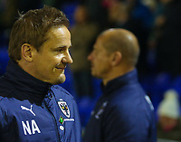AFC Wimbledon manager Neal Ardley  during the Sky Bet League 1 match between Oldham Athletic and AFC Wimbledon at Boundary Park, Oldham, England on 21 November 2017. Photo by Juel Miah/PRiME Media Images