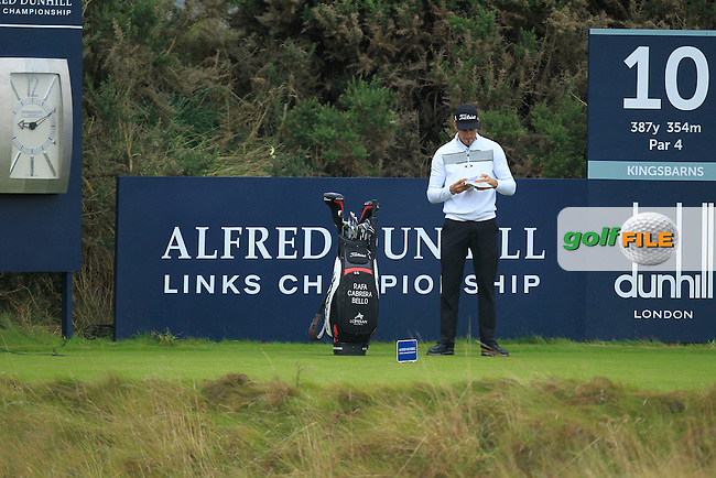 Rafa Cabrera-Bello (ESP) during Round 2 of the Alfred Dunhill Links Championship at Kingsbarns Golf Club on Friday 27th September 2013.<br /> Picture:  Thos Caffrey / www.golffile.ie