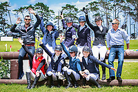 NZL-Blyth Tait and Clarke Johnstone with the riders during the course walk for the CCI2* Showjumping (Final-). 2016 NZL-Puhinui International 3 Day Event. Puhinui Reserve, Auckland. Sunday 11 December. Copyright Photo: Libby Law Photography
