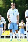 02 September 2013: North Carolina's Tyler Engel. The University of North Carolina Tar Heels hosted the Coastal Carolina University Chanticleers at Fetzer Field in Chapel Hill, NC in a 2013 NCAA Division I Men's Soccer match. UNC won the game 4-0.