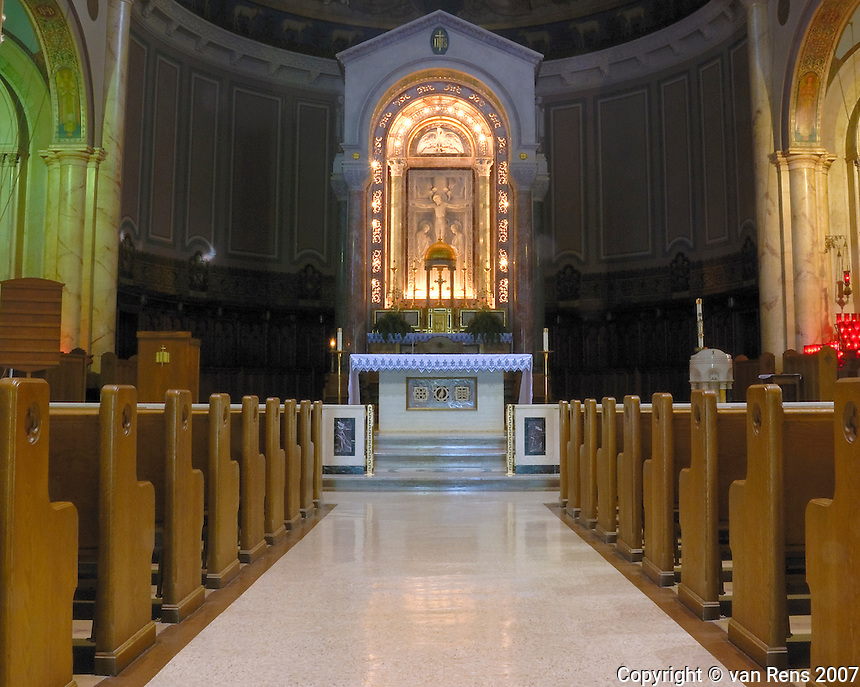 Main altar National Shrine at Our Lady of Consolation at Carey, OH.