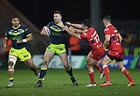 Picture by Anna Gowthorpe/SWpix.com - 02/02/2018 - Rugby League - Betfred Super League - Hull KR v Wakefield Trinity - KC Lightstream Stadium, Hull, England - Wakefield Trinity's Keegan Hirst is tackled by Hull KR's Chris Clarkson