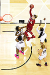 COLUMBUS, OH - MARCH 30: Sam Fuehring #3 of the Louisville Cardinals shoots over Mississippi State Bulldogs players during a semifinal game of the 2018 NCAA Division I Women's Basketball Final Four at Nationwide Arena in Columbus, Ohio. (Photo by Ben Solomon/NCAA Photos via Getty Images)