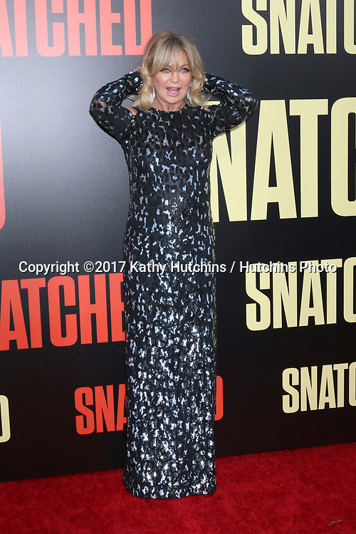 "LOS ANGELES - MAY 10:  Goldie Hawn at the ""Snatched"" World Premiere at the Village Theater on May 10, 2017 in Westwood, CA"