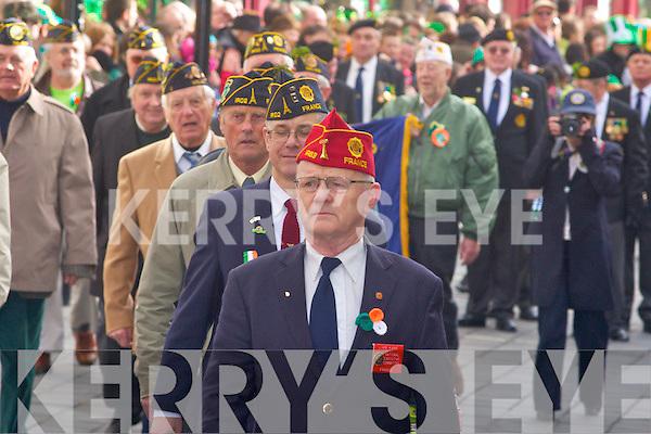 American legion marching at the killarney parade