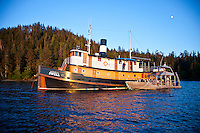 Nautilus Swell and Inde at anchor in the islands of Haida Gwaii, British Columbia, Canada.