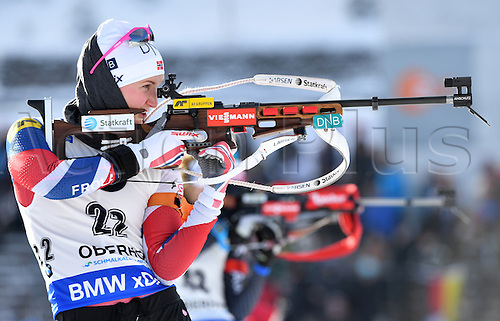 05.01.2017. DKB Ski Arena, Oberhof, Germany. Norwegian biathlete Marte Olsbu in action at the Biathlon World Cup in the DKB Ski Arena in Oberhof, Germany, 05 January 2017. The World Cup takes place between 5th and 8th January.