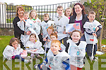 AWARD: Julie Finucane and Helen Enright with the children of the Wishing Tree Preschool in Tarbert which won a top innovation award this week.