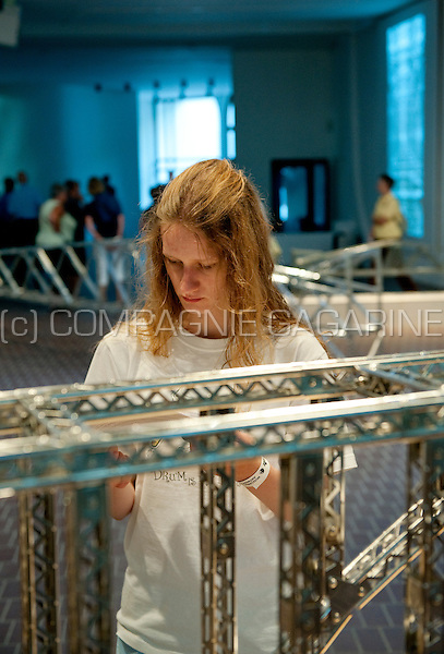 The Middelheim Open-Air Sculpture Museum during the Museumnacht 2009 in Antwerp (Belgium, 08/08/2009)