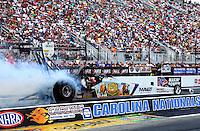 Sep 15, 2013; Charlotte, NC, USA; NHRA top fuel dragster driver Brandon Bernstein during the Carolina Nationals at zMax Dragway. Mandatory Credit: Mark J. Rebilas-