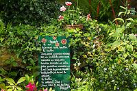 France, Manche (50), Saint-Germain-des-Vaux, Jardin en Hommage à Jacques Prévert