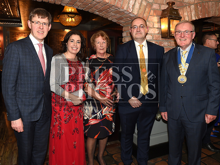 Seamus Roe, Ruth Dunne, Helene Little, Paul Eaton and John Little at the Ardee Traders Dinner in Muldoons. Photo:Colin Bell/pressphotos.ie