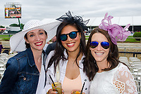 BALTIMORE, MD - MAY 20: Race fans pose for a photo before an undercard race on Preakness Stakes Day at Pimlico Race Course on May 20, 2017 in Baltimore, Maryland.(Photo by Dan Heary/Eclipse Sportswire/Getty Images)