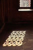 Light on floor, Dargah Mosque, Fatehpur Sikri, in the state of Uttar Pradesh, India.