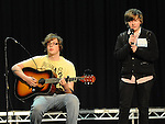 Andrew McKeown and Tom Lawlor Dundalk performing in the School Stars auditions in the TLT Drogheda. Photo: Colin Bell/pressphotos.ie
