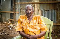 Ex-Seleka-General Ibrahim Alawad (52) in seinem Versteck in Bangui, Zentralafrikanische Republik