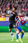 Karim Bellarabi (l) of Bayer 04 Leverkusen competes for the ball with Lucas Hernandez of Atletico de Madrid during their 2016-17 UEFA Champions League Round of 16 second leg match between Atletico de Madrid and Bayer 04 Leverkusen at the Estadio Vicente Calderon on 15 March 2017 in Madrid, Spain. Photo by Diego Gonzalez Souto / Power Sport Images