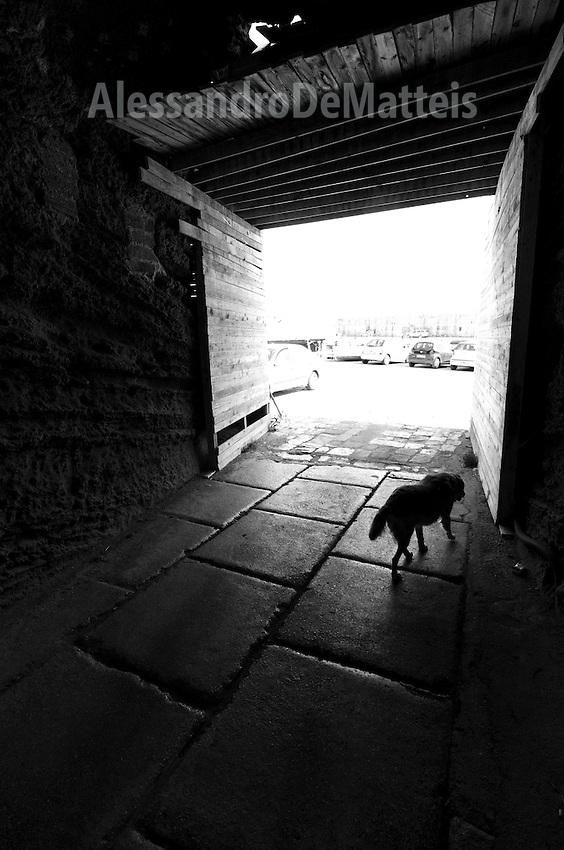 Castro Marina - Salento - Puglia - Tunnel scavato nella scogliera utilizzata da chi accede al porto