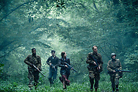 Overlord (2018)<br /> Jovan Adepo as Boyce, Dominic Applewhite as Rosenfeld, Mathilde Ollivier as Chloe, Wyatt Russell as Ford, John Magaro as Tibbet<br /> *Filmstill - Editorial Use Only*<br /> CAP/MFS<br /> Image supplied by Capital Pictures