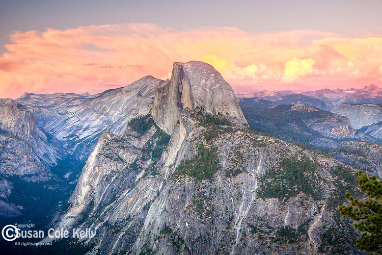 View of Half Dome and the high Sierras from Glacier Point, Yosemite National Park, CA, USA