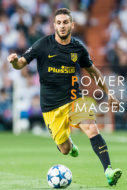Jorge Resurreccion Merodio, Koke, of Atletico de Madrid in action during their 2016-17 UEFA Champions League Semifinals 1st leg match between Real Madrid and Atletico de Madrid at the Estadio Santiago Bernabeu on 02 May 2017 in Madrid, Spain. Photo by Diego Gonzalez Souto / Power Sport Images
