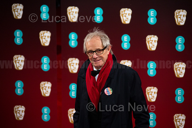 Ken Loach.<br /> <br /> London, 12/02/2017. Red Carpet of the 2017 EE BAFTA (British Academy of Film and Television Arts) Awards Ceremony, held at the Royal Albert Hall in London.<br /> <br /> For more information please click here: http://www.bafta.org/