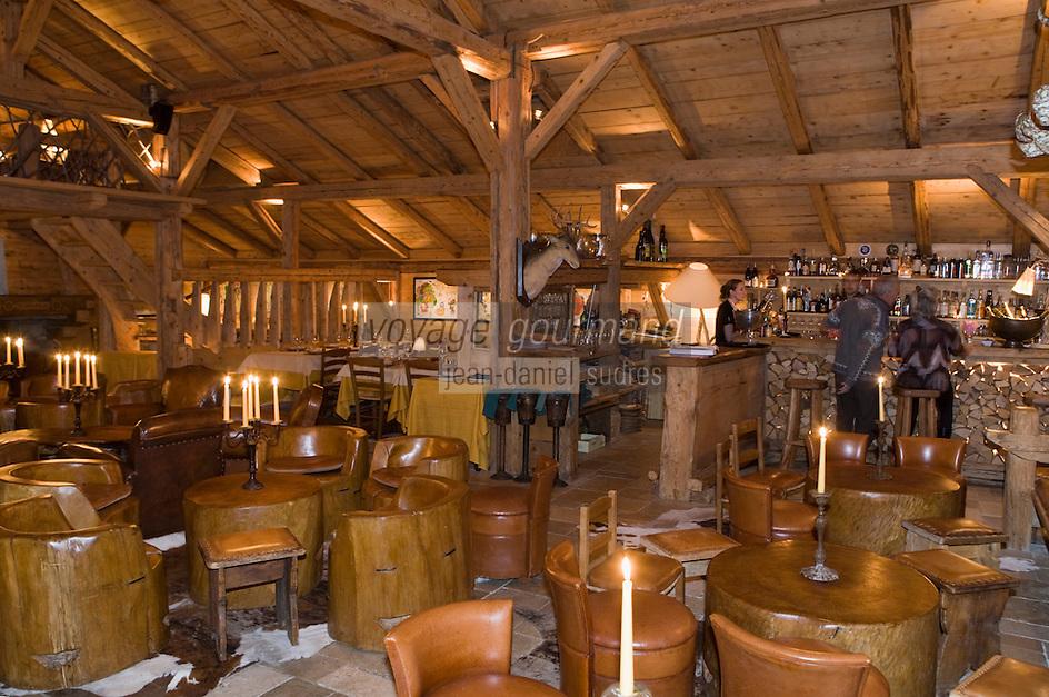 Europe/France/Rhone-Alpes/74/Haute-Savoie/Megève: Restaurant: La Sauvageonne