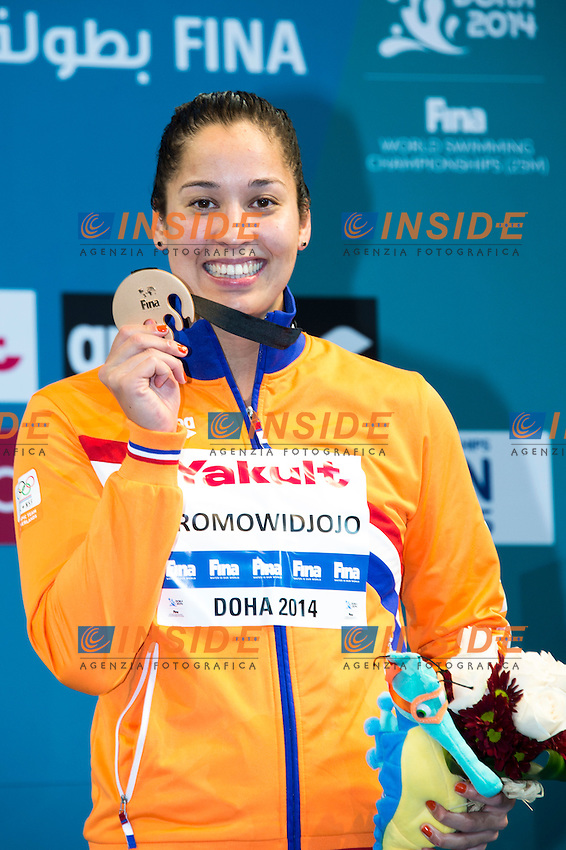 KROMOWIDJOJO Ranomi NED Bronze Medal<br /> Women's 100m Freestyle Final<br /> Doha Qatar 05-12-2014 Hamad Aquatic Centre, 12th FINA World Swimming Championships (25m). Nuoto Campionati mondiali di nuoto in vasca corta.<br /> Photo Giorgio Scala/Deepbluemedia/Insidefoto