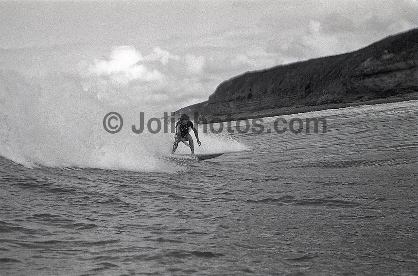 Former World Champion  Wayne Rabbit Bartholomew (AUS) surfing during the 1983 Rip Curl Pro at Bells Beach, Torquay, Victoria, Australia. Photo: joliphotos.com.