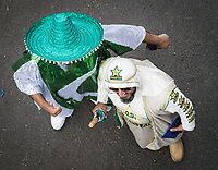 The Pakistan fans dressed for the occassion during Pakistan vs Sri Lanka, ICC World Cup Cricket at the Bristol County Ground on 7th June 2019