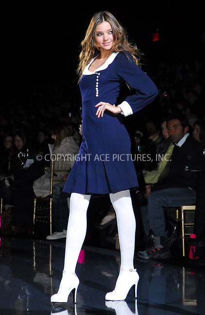 WWW.ACEPIXS.COM . . . . . ....February 6, 2007, New York City. ....A model displays a creation by Betsey Johnson during the Mercedes-Benz Fashion Week Fall 2007.....Please byline: KRISTIN CALLAHAN - ACEPIXS.COM.. . . . . . ..Ace Pictures, Inc:  ..(212) 243-8787 or (646) 769 0430..e-mail: info@acepixs.com..web: http://www.acepixs.com