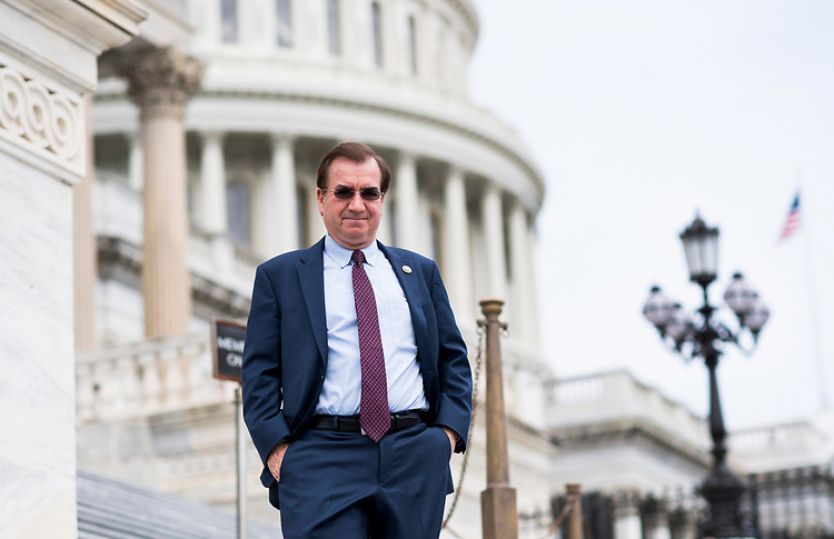 UNITED STATES - MAY 4: Rep. Ed Royce, R-Calif., walks down the House steps at the Capitol after a series of votes on repeal and replace of Obamacare on Thursday, May 4, 2017. (Photo By Bill Clark/CQ Roll Call)