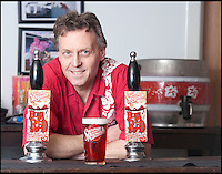 BNPS.co.uk (01202 558833)<br /> Pic: LauraJones/BNPS<br /> <br /> The manly world of real ale has a new flavour to savour - the worlds first beer brewed with hibiscus flowers.<br /> <br /> Entrepreneur Brent Smith is taking on the biggest of British breweries after launching the world's first beer made from the exotic blooms.<br /> <br /> Brent concocted the bizarre brew after setting up his own state-of-the-art micro-brewery in a converted grain barn in the Dorset countryside.<br /> <br /> The 47-year-old was inspired by a holiday to Spain as a teenager during which he tasted hibiscus tea for the first time.<br /> <br /> So when he launched his Sunny Republic brewery turning the earthy-tasting tropical flower into a mouthwatering beer was top of his list.<br /> <br /> Brent introduces dried hibiscus petals into the brewing process at the same stage as the hops, then adds fermented pressed petals to the beer once maturing in tanks.<br /> <br /> The beer, called Huna Red in a nod to its dark red colour, is now among the best sellers at the brewery in rural village of Winterborne Kingston, which churns out up to 30,000 pints a week.<br /> <br /> It is thought Sunny Republic is the only brewery in the world using hibiscus in the brewing process.<br /> <br /> Historically, hibiscus has been used in folk medicine as a diuretic and laxative as well as a treatment for cardiac and nerve diseases and cancer.<br /> <br /> The petals are used to make tea around the world.
