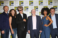 SAN DIEGO - July 23:  Mark Gatiss, Michelle Gomez, Peter Capaldi, Matt Lucas, Pearl Mackie, Steven Moffat at Comic-Con Sunday 2017 at the Comic-Con International Convention on July 23, 2017 in San Diego, CA
