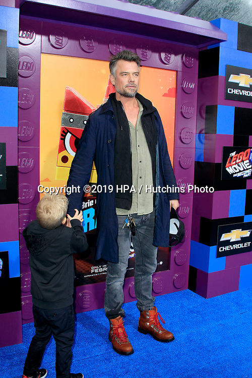 """LOS ANGELES - FEB 2:  Axl Jack Duhamel, Josh Duhamel at """"The Lego Movie 2: The Second Part"""" Premiere at the Village Theater on February 2, 2019 in Westwood, CA"""