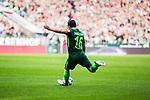 15.04.2018, Weserstadion, Bremen, GER, 1.FBL, Werder Bremen vs RB Leipzig, <br /> <br /> im Bild | picture shows:<br /> Freisto&szlig; Zlatko Junuzovic (SV Werder Bremen #16), <br /> <br /> <br /> Foto &copy; nordphoto / Rauch