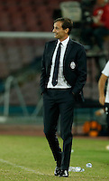 Juventus' coach  Massimiliano Allegri  during the  italian serie a soccer match,    at  the San  Paolo   stadium in Naples  Italy , September 26 , 2015