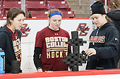 Makenna Newkirk (BC - 19), Grace Bizal (BC - 2), Alex Carpenter (BC - 5) - The Boston College Eagles defeated the Northeastern University Huskies 5-1 (EN) in their NCAA Quarterfinal on Saturday, March 12, 2016, at Kelley Rink in Conte Forum in Boston, Massachusetts.