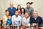 Derrick O'Connor, Tralee celebrating his 33rd birthday with family at Denny Lane on Friday Pictured l-r Louise Quill, Sean Dowling, Derrick O'Connor, Joan O'Connor, Tony O'Connor, Back l-r John Dowling, Sinead O'Connor, Katie Dowling and Garry O'Connor
