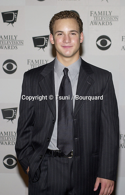 Ben Savage backstage  at the 3rd Annual Family Television Awards at the Beverly Hilton in Los Angeles.  August 2, 2001   © Tsuni          -            SavageBen03.jpg